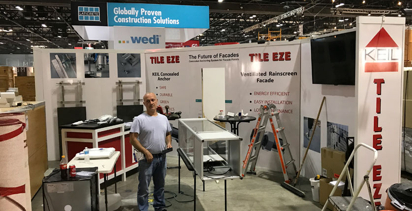 KEIL Anchor TILE EZE - Tradeshow Booth Setup